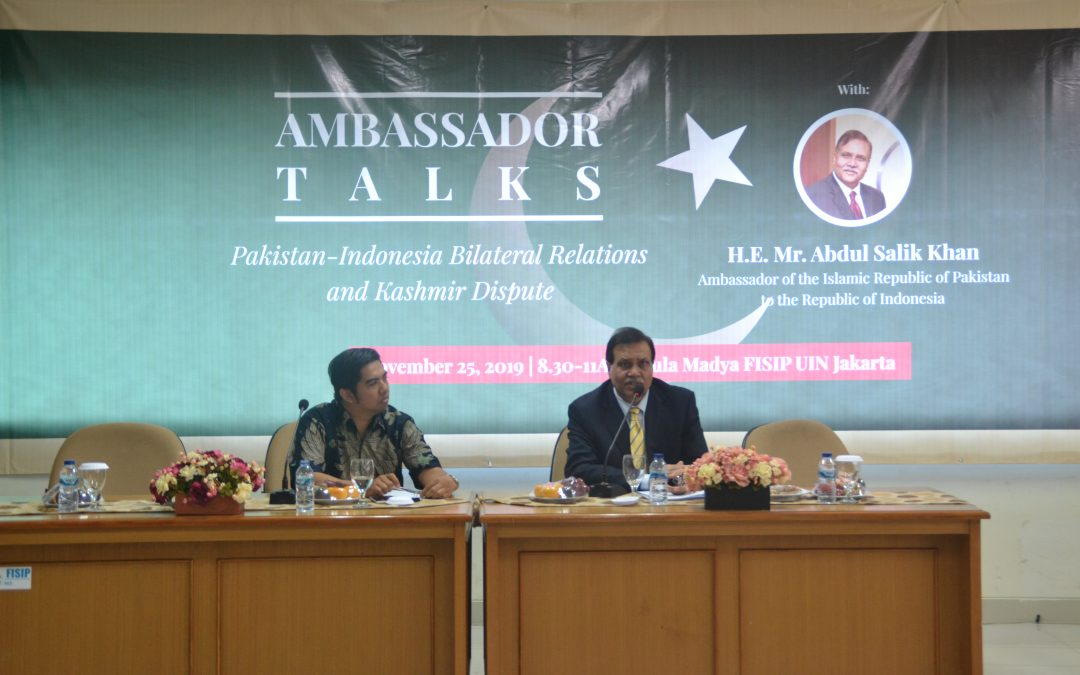 Public Lecture: Pakistan-Indonesia Bilateral Relations and Khasmir Dispute